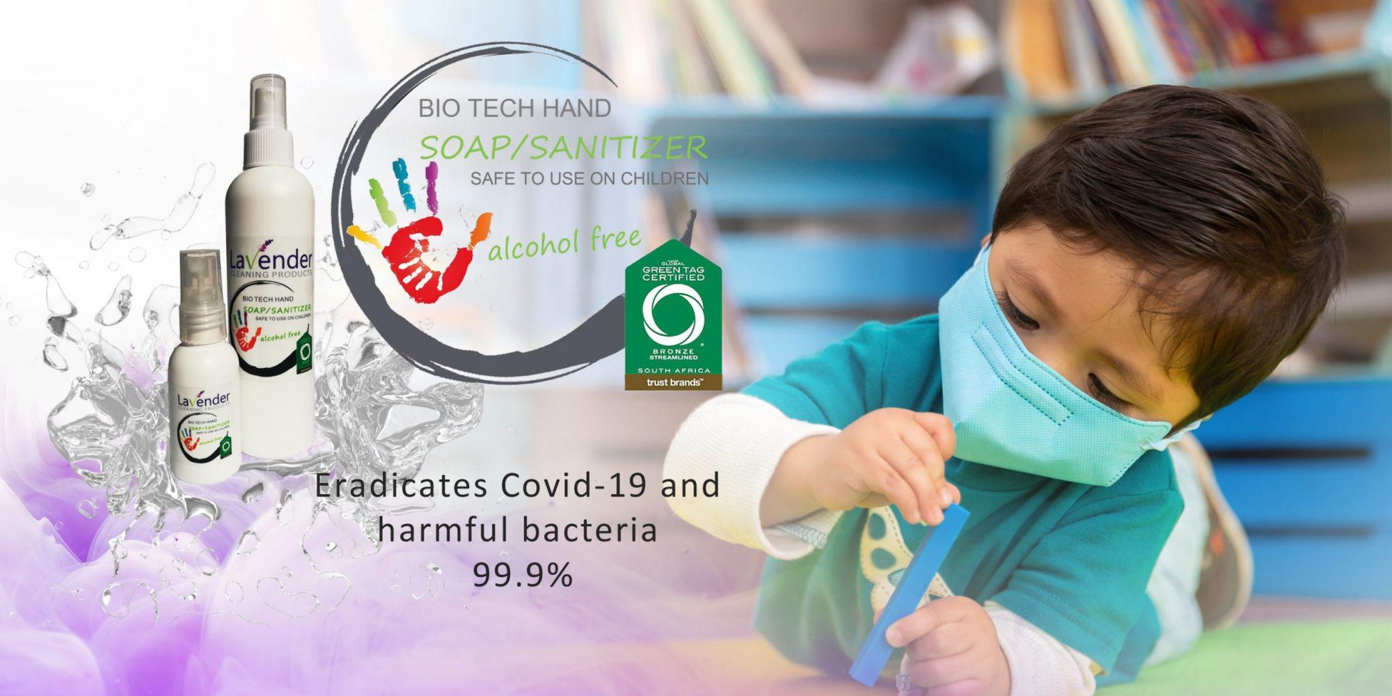 Bio tech soap hand sanitizer green add slide
